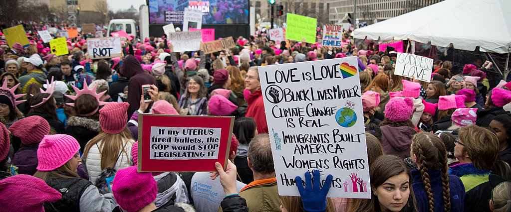 Photo from January 21, 2017 Women's March on Washington, D.C. (credit: Jason Wu via Wiki Commons)